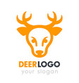 deer head logo element on white vector image