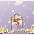 deer relax in bathroom vector image vector image
