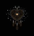 dream catcher ethnic symbol design element vector image vector image