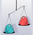 fat scales cartoon vector image