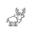 Festive deer line icon concept festive deer