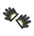 flat icon on stylish background gloves for the gym vector image