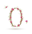 Floral number zero for your design vector image vector image