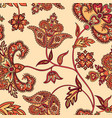 flourish seamless pattern floral background vector image vector image