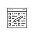 folder tablet with pencil clipboard checklist vector image vector image