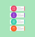 four colorful icons isolated in circles poster vector image