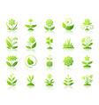 garden simple green gradient icons set vector image vector image