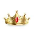 golden crown 3d realistic gold queen sign luxury vector image