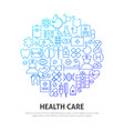 health care circle concept vector image vector image