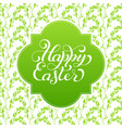 holiday gift card with hand lettering happy easter vector image vector image