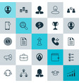 Hr icons set collection of call briefcase vector image