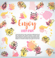 isolated creative background card with flowers vector image