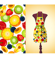 kitchen apron on a dummy4 vector image vector image