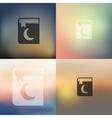 koran icon on blurred background vector image