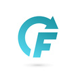 Letter F arrow logo icon design template elements