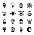 Light icon set vector image