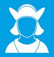 male avatar icon white vector image