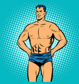 man swimmer in swimming trunks vector image vector image