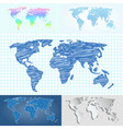 maps globe earth contour outline silhouette world vector image vector image