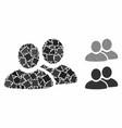 men composition icon unequal elements vector image vector image