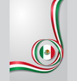 mexican flag wavy background vector image vector image