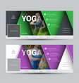 modern design banners for social networks with vector image vector image
