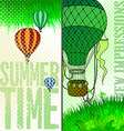 new journey in a balloon vector image vector image
