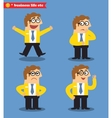 Office emotions poses vector image vector image