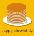 pancakes happy pancake day vector image