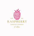 raspberry confectionery bar abstract sign vector image vector image