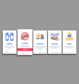 rat protect onboarding elements icons set vector image vector image