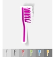 realistic design element toothbrush vector image vector image