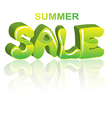 Sale green 3D word vector image