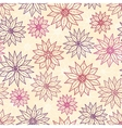 Seamless pattern graphic flowers vector image vector image