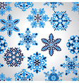 Seamless Pattern with Blue Snowflakes vector image vector image