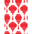 seamless pattern with simple chinese red lanterns vector image vector image