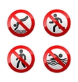Set prohibited signs - sport vector | Price: 1 Credit (USD $1)