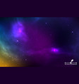 space background realistic colorful cosmos with vector image