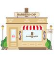 street building facade barbershop front shop vector image vector image