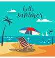 Summer Poster Tropical Beach with Palm Trees vector image vector image