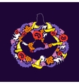 the day of halloween vector image