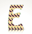 The letter E of the alphabet made of Eggplant vector image