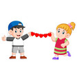 they are holding continued love made paper vector image vector image