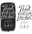 Think outside the box - design element vector image vector image
