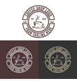 vintage coffee shop logo vector image vector image