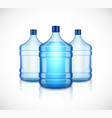 water bottle large plastic big blue vector image vector image