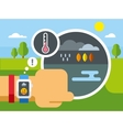 Weather Application on Smart Watch vector image vector image
