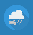 Weather Flat Icon Rainy and Windy vector image