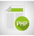 web development document php vector image vector image