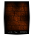 brick wall architecture background vector image